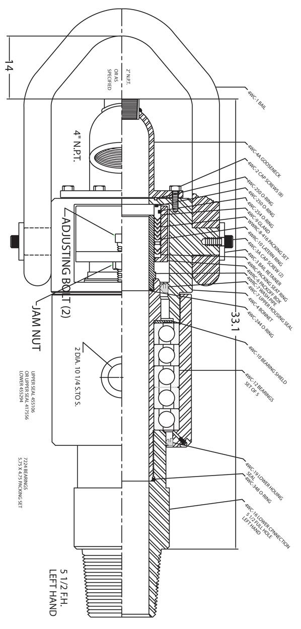 model 153 u20134wd swivel assembly